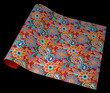 """Floral & Paisley - Multicolor on Crimson, 22"""" x 30"""" additional picture 2"""