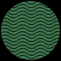 "Corrugated Illusion Wave Flute - Green, 20"" x 29.5"""