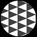 "Triangles-Black on White, 22"" x 30"""