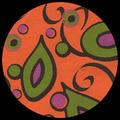"""Picco Paisley-Tangerine 21"""" x 29"""""""