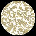 "Elegance-Gold/White 25"" x 37"""