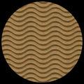 "Corrugated Illusion-Kraft Brown 29"" x 40"""