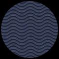 "Corrugated Illusion-Royal Blue 29"" x 40"""