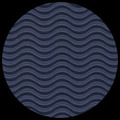 "Corrugated Illusion-Royal Blue 29"" x 20"""
