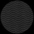 "Corrugated Illusion-Jet Black 29"" x 40"""