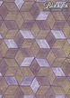 """Cubism-Gold/White on Purple, 22"""" x 30"""" additional picture 1"""