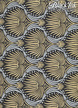 "Art Deco Lotus-Gold/Silver on Black, 22"" x 30"" additional picture 1"