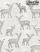 """Embossed Deer - White Mulberry, 21"""" x 31"""" additional picture 1"""