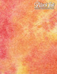"""Sheer Watercolor Momi - Orange/Red, 23"""" x 34"""" additional picture 1"""