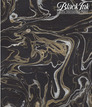 Indian Marbled Paper - Exotic - Gold & Silver on Black   22 x 30 additional picture 1