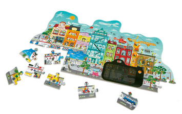 Animated City Puzzle picture