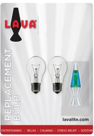 Lava Lamp 40 Watt Bulb 2pk Schylling