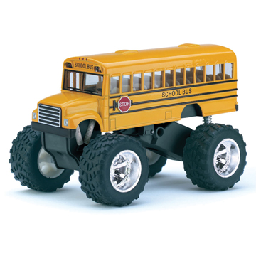 Die-Cast Big Wheel School Bus picture