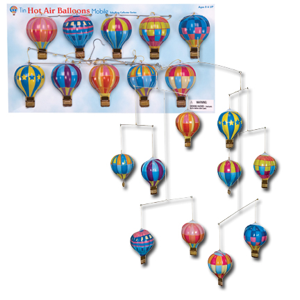Tin Hot Air Balloon Mobile picture