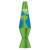 "14.5"" LAVA LAMP METALLIC GREEN - YELLOW & BLUE"