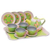 Childrens Tin Tea Set In Case