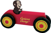 Curious George Wooden Car