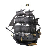 Paper Nano Black Pirate Ship