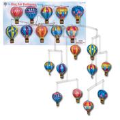 Tin Hot Air Balloon Mobile