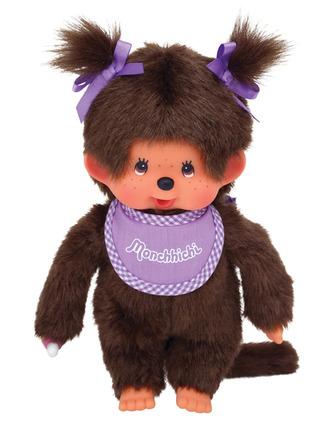 Monchhichi Girl - Purple Bib picture