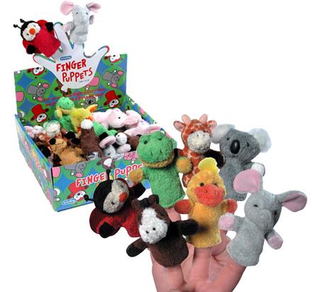 Plush Finger Puppets-Asst picture