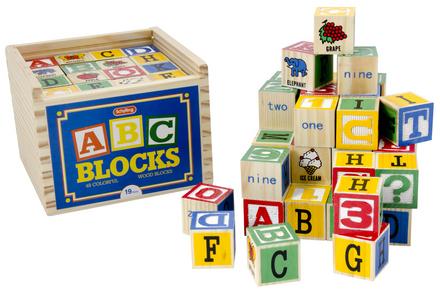 Alphabet Blocks 48 Pcs. picture