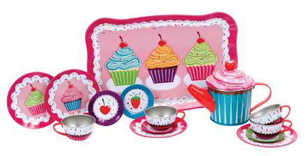 CUPCAKE TIN TEA SET picture