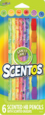 Scented Pencils with Erasers - 6pk