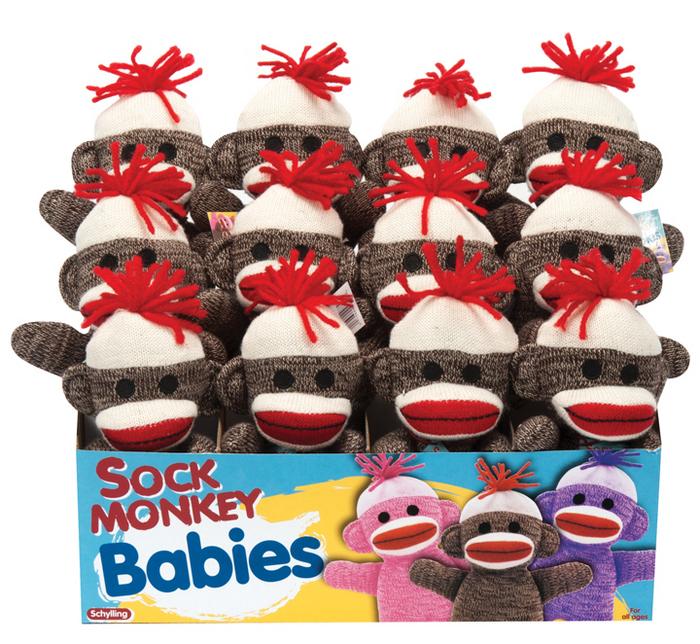 Sock Monkey Baby Brown Schylling
