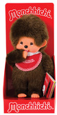 Monchhichi Boy - Red Bib