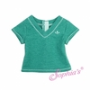 Green Heather V-Neck T