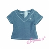 Blue Heather V-Neck T
