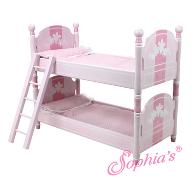 Hand Painted Pink Deluxe Bunk Bed picture