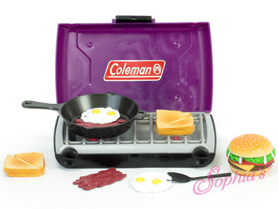 Purple Coleman® Camp Stove and Food Set picture