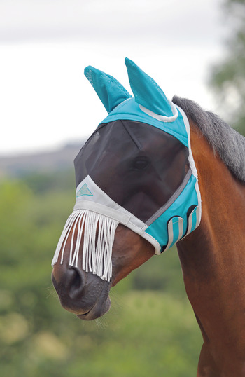 Fine Mesh Fly Mask - Nose Fringe & Ears picture
