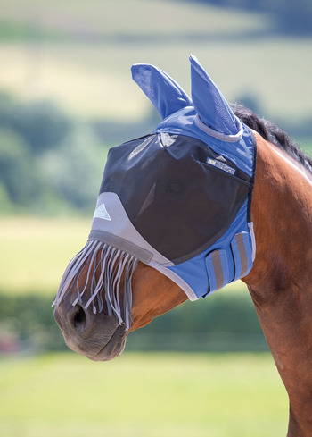 Deluxe Fly Mask with Nose Fringe picture