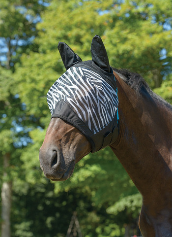 Zebra Print Fine Mesh Fly Mask picture