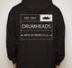 Classic Crown Full Zip Hooded Sweatshirt Black - Large
