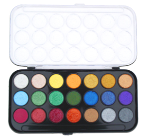 Niji Pearlescent Watercolor Set 21 colors picture