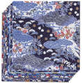 "Blue Yuzen Paper 10 sheets/patterns 5 7/8"" square"