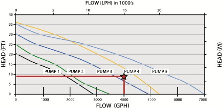 Example Pump Flow Curve