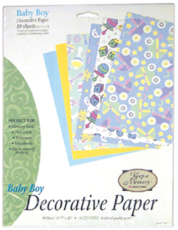 Baby Boy Decorative Paper Pack (6 packs included) picture
