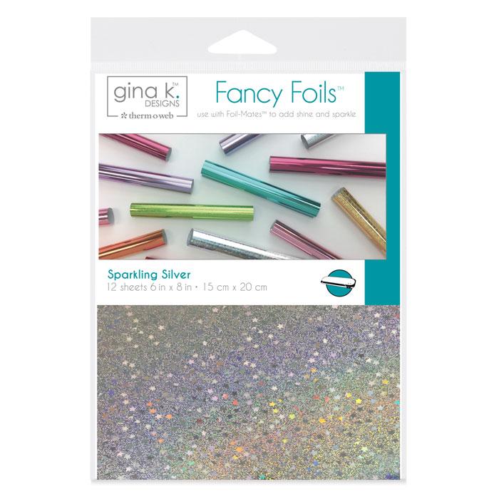 Gina K Designs Fancy Foils 6 Quot X 8 Quot Sparkling Silver
