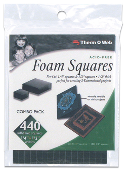 Foam Squares Combo Pack  - Black picture