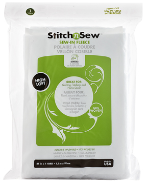 StitchnSew Fleece Sew-In High Loft (White 45 in. d/f x 1 Yard pack) picture