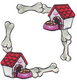 Dog House & Dog Bone  (6 packs included)