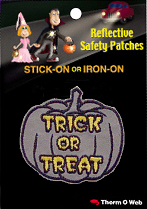 Trick or Treat Halloween Reflective Patch (12 packs included) picture