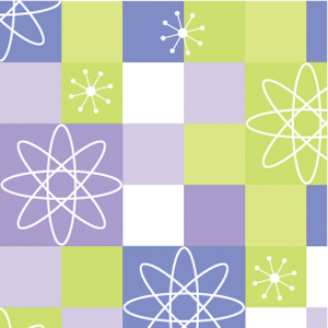 Atomic Flower Retro Paper (1 pack of 25 sheets) picture