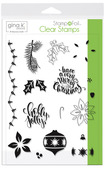 Gina K. Designs StampnFoil Stamp Set, Holly Jolly