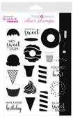 Rina K. Designs StampnStencil Stamp Set, Sweet Stuff